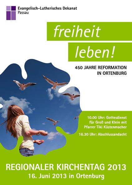 Plakat des regionalen Kirchentags