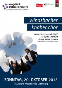 Plakat Windsbacher Knabenchor